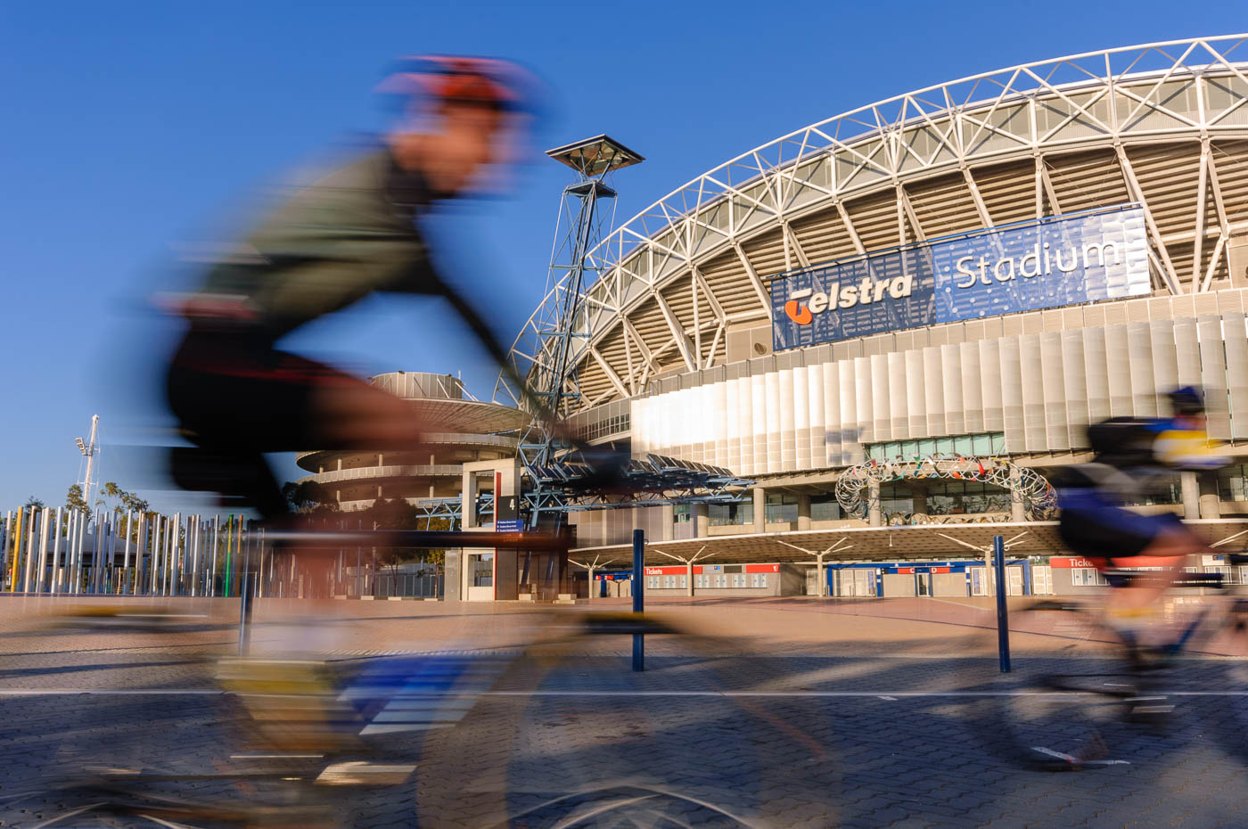 Cyclists at Sydney Olympic Park