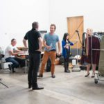 Behind the scenes at studio shoot