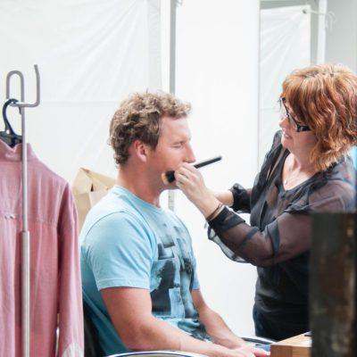 Behind the scenes at studio shoot 5