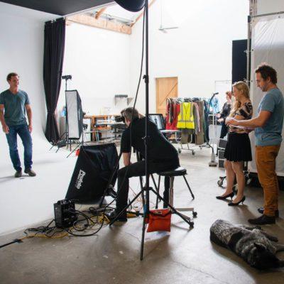 Behind the scenes at studio shoot 6