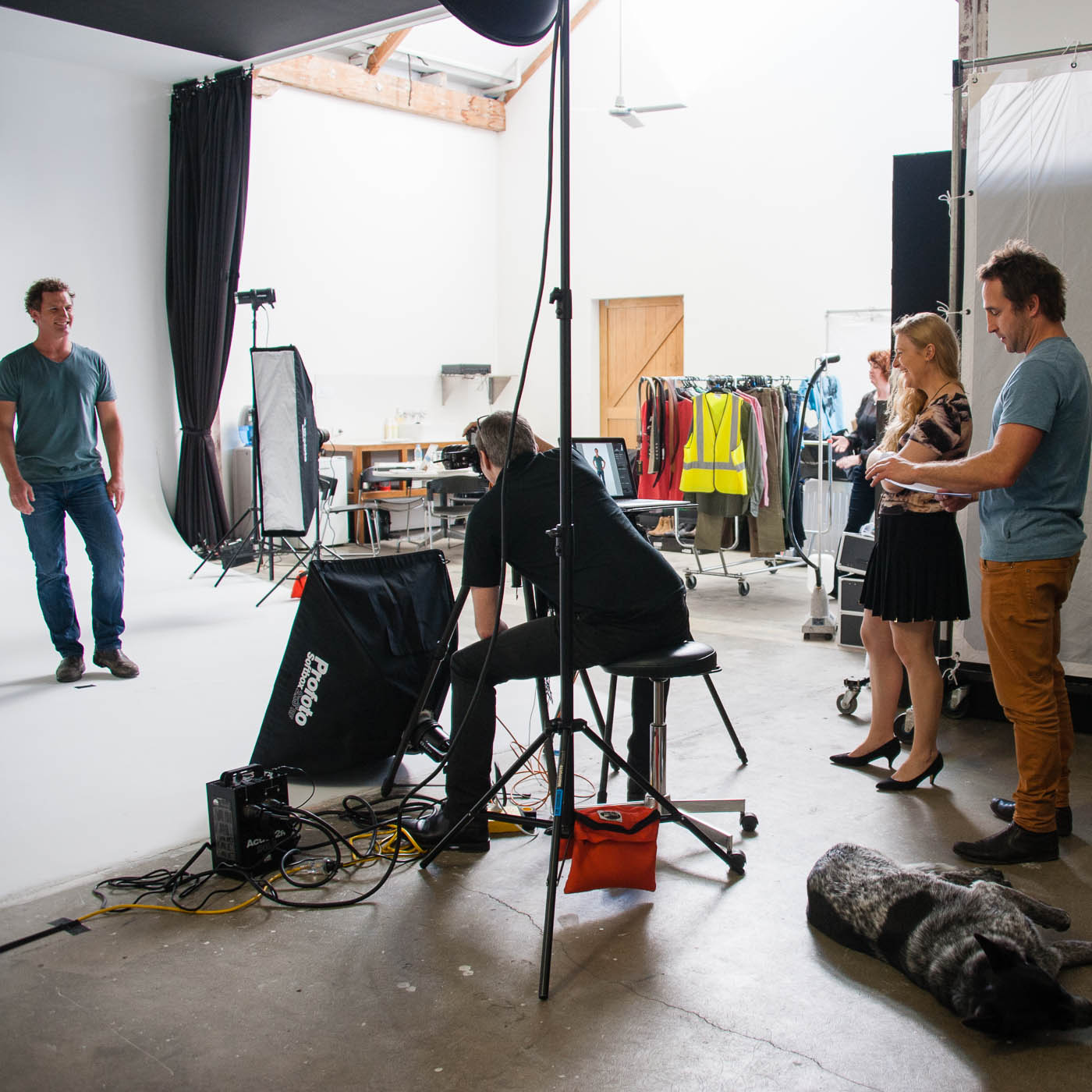 Behind the scenes at studio shoot 6