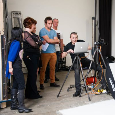 Behind the scenes at studio shoot 7