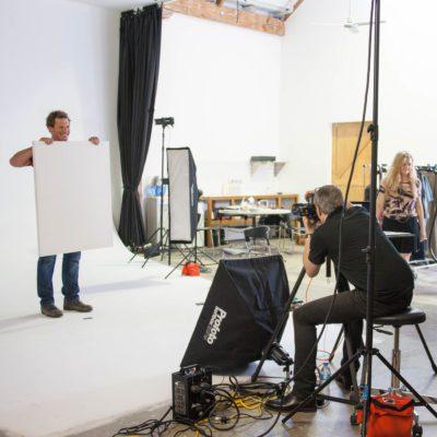 Behind the scenes at studio shoot 13