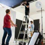Behind the scenes at studio shoot 14