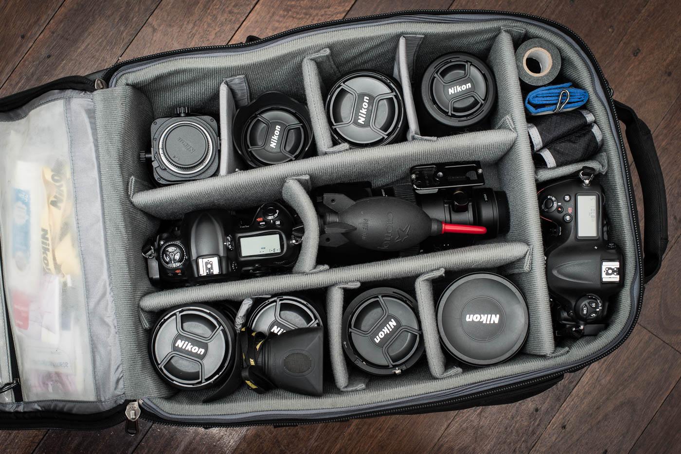 Gavin Jowitt's camera bag