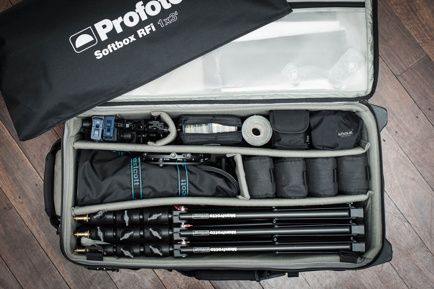 Gavin Jowitt's lighting kit
