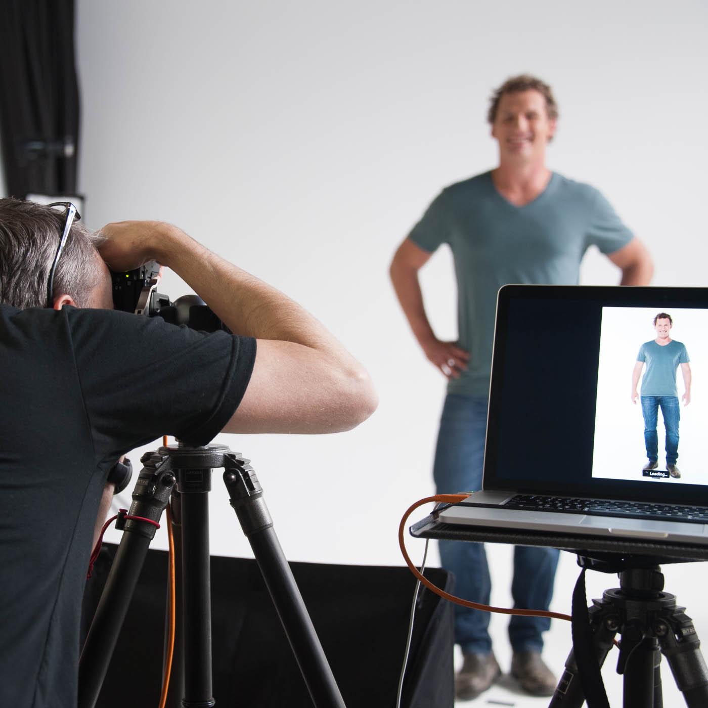 Behind the scenes at studio shoot 8