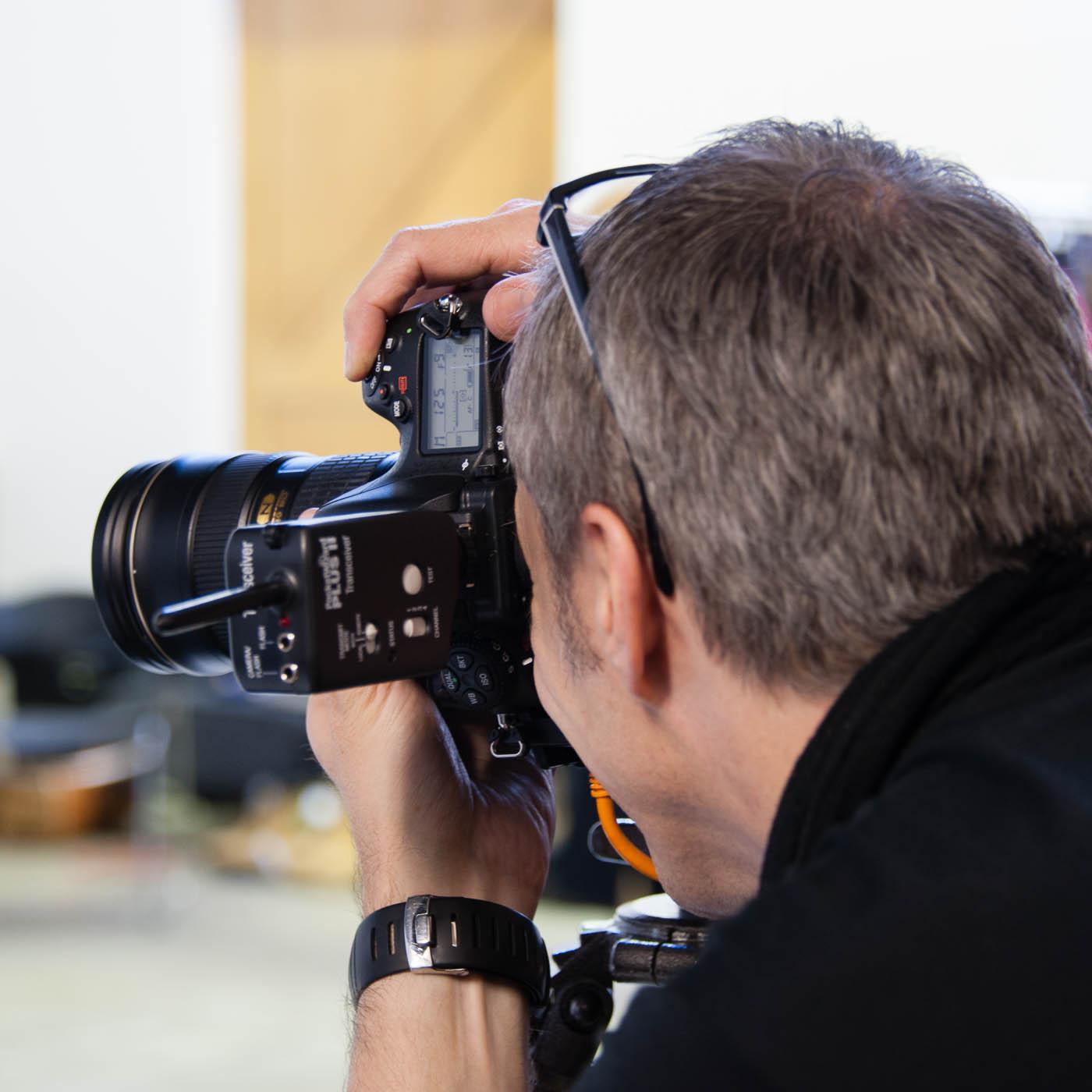 Behind the scenes at studio shoot 12
