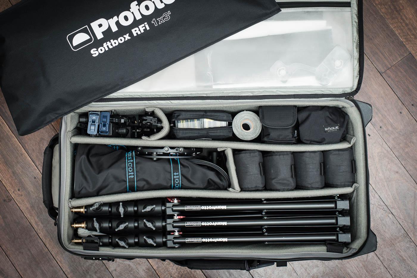 Gavin Jowitt's lighting kit